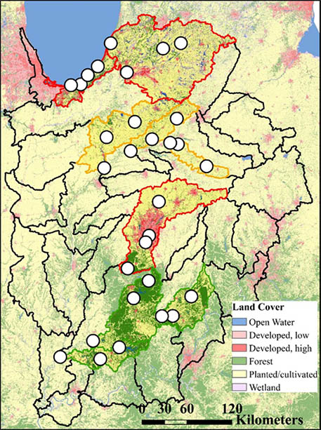 A Contaminant of Emerging Concern in Indiana Rivers Map.