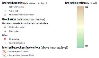 Bedrock Topography Key